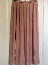 NWT Uniqlo High Waist Chiffon Pleated Skirt Pink S