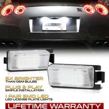 [BRIGHT] 2PC White LED License Plate Light Lamp For Nissan 350Z 370Z GTR G35 G37