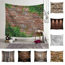 3D Brick Print Tapestry Wall Hanging Blanket Bedspread Throw Cover Home Decor