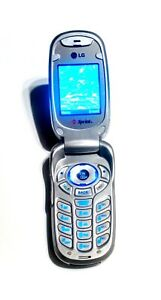 LG  PM225 Red & Silver Sprint Flip Cellular Phone  Super Fast Shipping