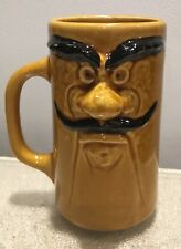 Vintage man face coffee mug mustach Whimsical Funny