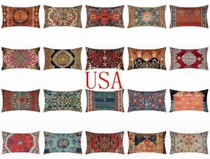 "12x20"" PILLOW COVER Tapestry Kilim Rug DIGITAL PRINT 2-Sided Lumbar Cushion Case"