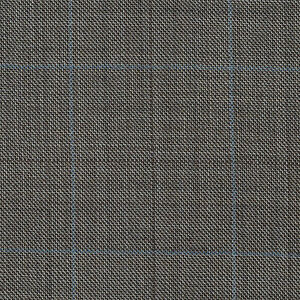 Sand with Blue & Brown Multi Check Super 120's All Wool Suiting - 3.50 Metres