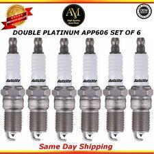 Double Platinum Spark Plugs APP606 Set of 6 For 04/14 Buick Chevrolet GMC 4.3L