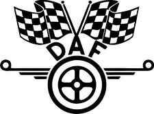 DAF CHEQUERED FLAG DECAL STICKER