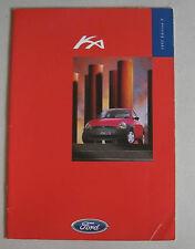 FORD kA 1997 RANGE CAR BROCHURE. 3 DOOR HATCHBACK KA2 KA3 1.3i HCS EFi 1299cc