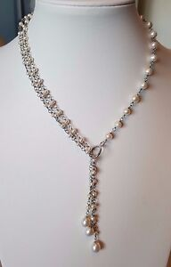 Freshwater pearl necklace and 925 sterling silver