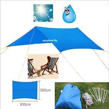 10x10FT Outdoor Camping Waterproof Rain Tarp Tent Canopy Shelter Cover Sunshade