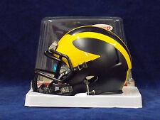 Michigan Wolverines Riddell NCAA College Football Team Speed Mini Helmet MATTE