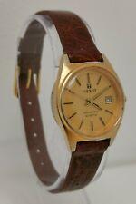 Vintage 1970s Tissot Seastar Swiss Quartz Gold Plated Date Ladies Wrist Watch