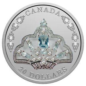 Queen Elizabeth II's Brazilian Aquamarine Tiara - 2020 $20 Fine Silver Coin