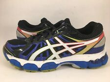 Mens ASICS GEL NIMBUS 15 IGS Running Shoes Blue Black White Red Multi Size 7