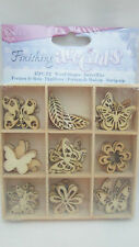 Darice Wooden Shapes 45 per Package-butterfly
