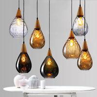Wood Pendant Light Glass Pendant Light Bar Modern Ceiling Lights Kitchen Lamp