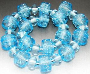 "Sistersbeads ""F-Glacier"" Handmade Lampwork Beads"