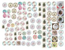 Dollhouse Miniature Shabby Chic Decals 1:12 Scale Plates #1
