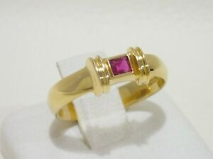 TIFFANY & CO. 18k yellow gold ring with ruby size 6.5