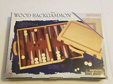 New Backgammon Strategy Game Set w/ Wood Case 2004 Perfect Gift Idea!