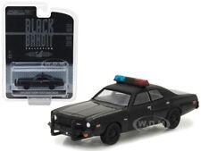 1976 DODGE CORONET BLACK BANDIT POLICE 1/64 DIECAST MODEL BY GREENLIGHT 27930 C