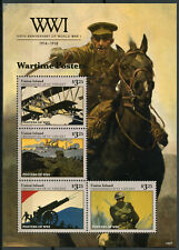 Union Island Gren St Vincent 2014 MNH WWI WW1 Wartime Posters 4v M/S Stamps