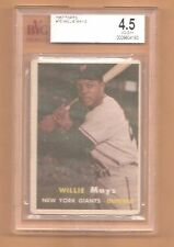 1957 Topps ~ Willie Mays ~ San Francisco Giants ~ #10 ~BGS/BVG 4.5