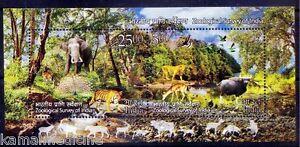 Tiger Dear Elephant Peacock Lion Water Birds Zoological Survey India 2015 MNH SS