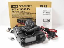Yaesu FT-100D HF / VHF / UHF Mobile Transceiver w/ Orig Box, Manual, Hand Mic