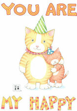 Mary Engelbreit-You Are My Happy Cats-Blank Greeting Card/Envelope-New!