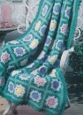 Vintage Floral Spring Medley Crochet Pattern Instructions.