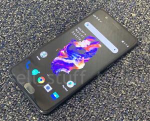 OnePlus 5 (A5000), 6GB RAM, 64GB, UNLOCKED, Slate Grey, dual-SIM (T278)