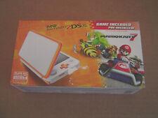 Nintendo 2DS XL Console + Mario Kart 7 Game Bundle - Orange/White - Brand New