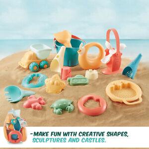 17 Pcs Kids Beach Sand Toys Set Soft Rubber Material Sandbox Water Snow Summer