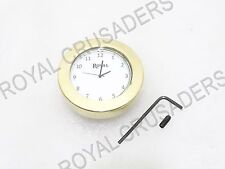 NEW ROYAL ENFIELD WHITE DIAL BRASS STEM NUT CLOCK WATCH #RE163 @JR