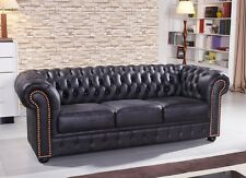 Chesterfield Mikrofasersofa Couch Chester-3-MS sofort
