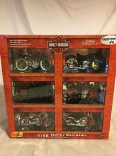 Maisto Harley Davidson Collection Motorcycles 1:18 NEW 6 Bikes 2002