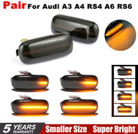 UK 2x Dynamic Flowing LED Side Marker signal Light for Audi A3 A4 RS4 A6 RS6 HOT