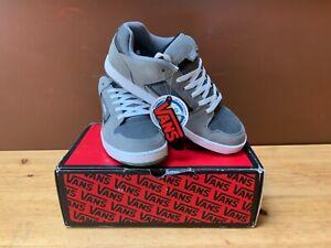 VANS Docket Skate Shoes Mens Size 11.5 Grey/White Skateboarding Sneakers NWT