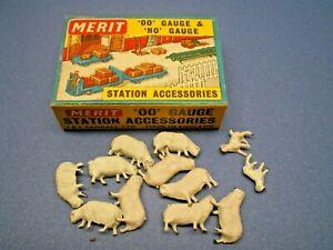"""Vintage MERIT HO / OO Gauge """" SHEEP & LAMBS """" No. 5110 NOS L@@K"""
