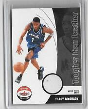 TRACY McGRADY 2001/2 FLEER TOUGHER THAN LEATHER GAME WORN SHOE CARD #81/100