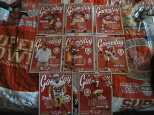 49ERS GAMEDAY 2013 PROGRAMS LAST YEAR AT CANDLESTICK PARK TAKE YOUR PICK