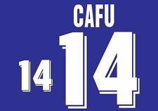 Cafu #14 Brazil World Cup 1994 Away Football Nameset for shirt