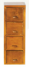 Miniature Dollhouse Wood File Cabinet 1:12 Scale New