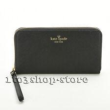 Kate Spade Gold Zip Wristlet Wallet Purse Phone Holder Coin Purse Handbag Black