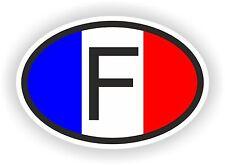 F Autocollant OVAL Drapeau France Sticker Voiture Moto Caravane Pare-choc Casque