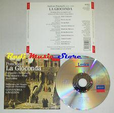 CD PONCHIELLI La gioconda CERQUETTI SIMIONATO DEL MONACO SIEPI Decca lp mc dvd