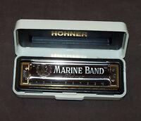 "Harmonica diatonic Hohner Marine Band ""Blues"" in C harmonica comb wood NEW"