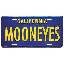 MOONEYES VTG STYLE BLUE YELLOW CA LICENSE PLATE HOT ROD RAT STREET CUSTOM VW VAN
