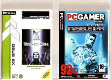 DEUS EX & DEUS EX INVISIBLE WAR. 2 GREAT SHOOTER/RPG/ACTION/ GAMES FOR THE PC!!