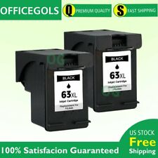 2P Black Ink for HP 63XL OfficeJet 5220 5232 5252 5255 5258 3830 4650 Printer