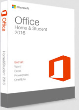 NEU Microsoft Office 2016 Home & Student Vollversion Produktkey nur Windows